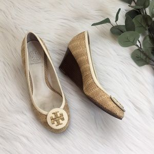 Tory Burch Sally Straw Wedges
